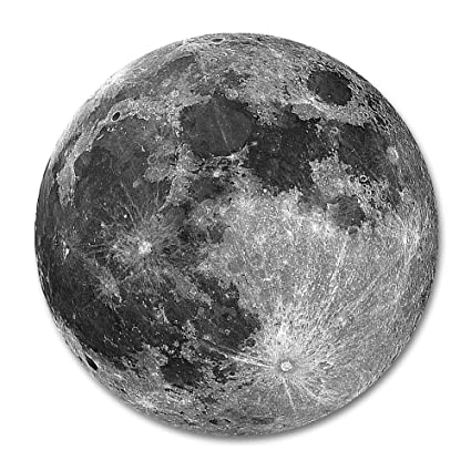 amazon com moon round mouse pad by smooffly earth grey moon