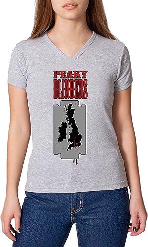 Peaky Blinders Razor Reino Unido arte mujeres camiseta con ...