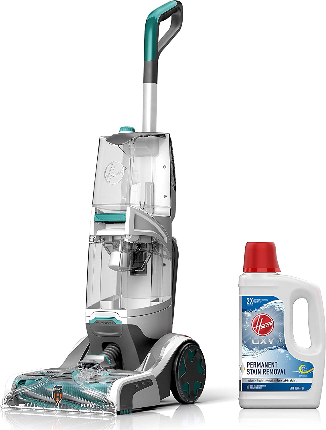 Hoover Smartwash Automatic Carpet Cleaner with Oxy Carpet Cleaning Solution (50 oz), FH52000, AH30950