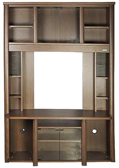 Stylespa Apollo Tv Wall Unit Small 665 Boston Walnut Amazon In Home Kitchen
