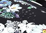 Canvaslife Black Chrysanthemum Pattern 15 inch