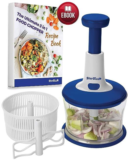StarBlue Cortador de Alimentos 3 en 1 Procesador de Cocina Todo en ...