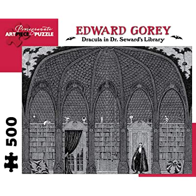 Edward Gorey - Dracula in Dr. Seward's Library: 500 Piece Puzzle (Pomegranate Artpiece Puzzle): Gorey, Edward: Toys & Games