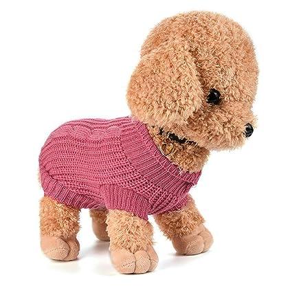 Ropa Para Perros, INTERNET Puente De Punto Para Mascotas Suéter De Invierno Disfraz De Peluche