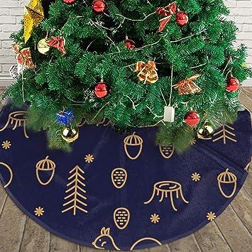 WU4FAAR Falda para árbol de Navidad, diseño de Madera y Ardillas ...