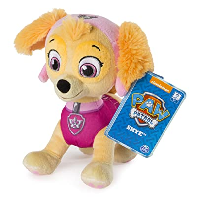"Paw Patrol – 8"" Skye Plush Toy, Standing Plush with Stitched Detailing, for Ages 3 & Up: Toys & Games"
