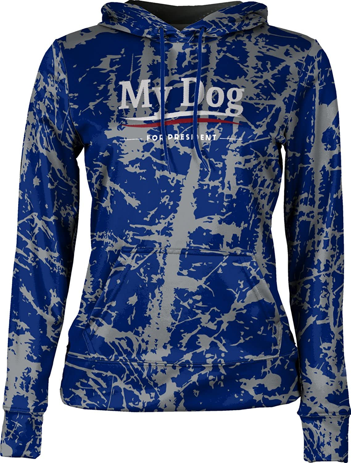 ProSphere Women's My Dog For President Pets Distressed Pullover Hoodie