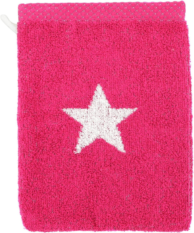 Linnea Manopla de baño 16 x 21 cm, 100% algodón, 480 g/m2 Stars Rosa: Amazon.es: Hogar