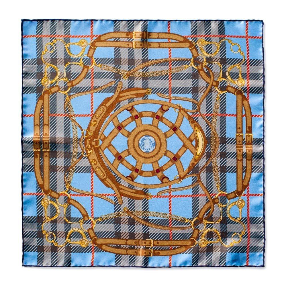 16.5 Inches Caravaggio Italian Silk Mens Sienna Series Pocket Square