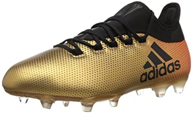 premium selection d0ae9 793ac adidas Mens X 17.2 FG Soccer Shoe Tactile Goldcore BlackSolar red 6.5