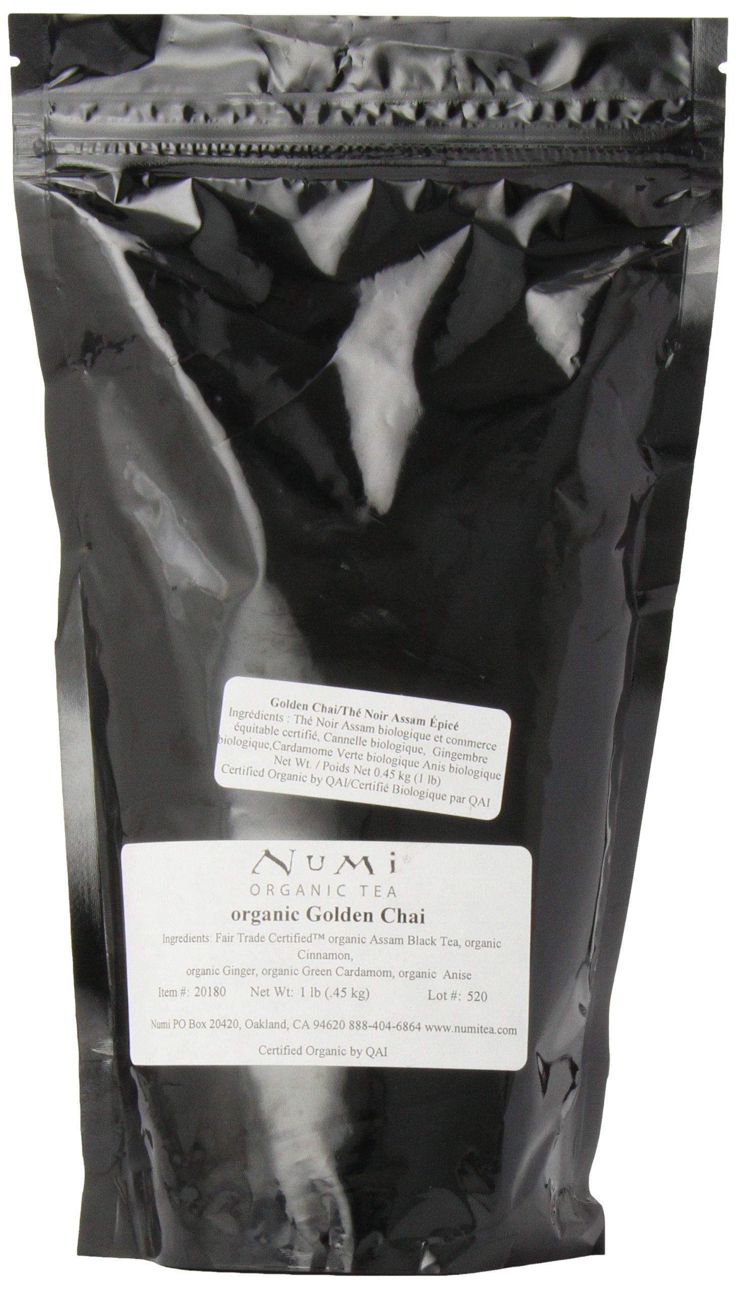 Numi Organic Tea Golden Chai, 16 Ounce Pouch (Pack of 6), Loose Leaf Black Tea by Numi Organic Tea (Image #3)