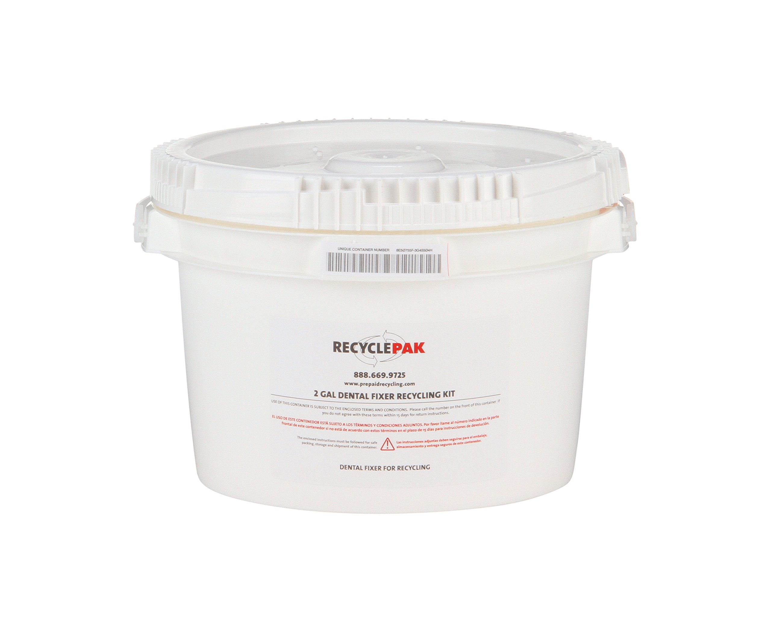 SUPPLY-063 2 GAL DENTAL FIXER RECYCLING PAIL