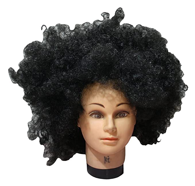 Petitebelle Halloween disfraz negro grande peluca afro pelo para Unisex libre tamaño