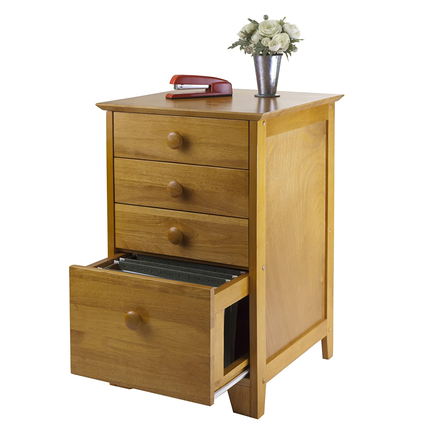 Beau Amazon.com: Winsome Wood File Cabinet With 4 Drawers, Honey: Kitchen U0026  Dining