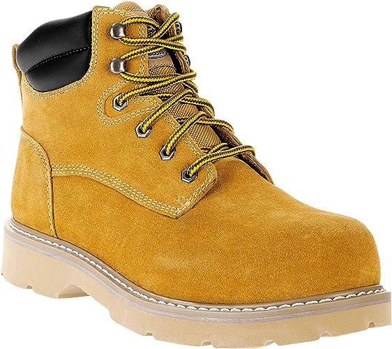 Brahma Mens Boots Steel Toe Wheat Bravo