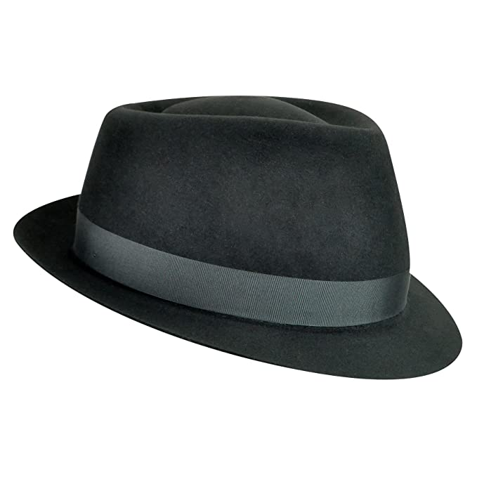 926800e5d0d73 Bailey of Hollywood Men Duffy Ii Trilby Black 6 7 8 at Amazon Men s  Clothing store