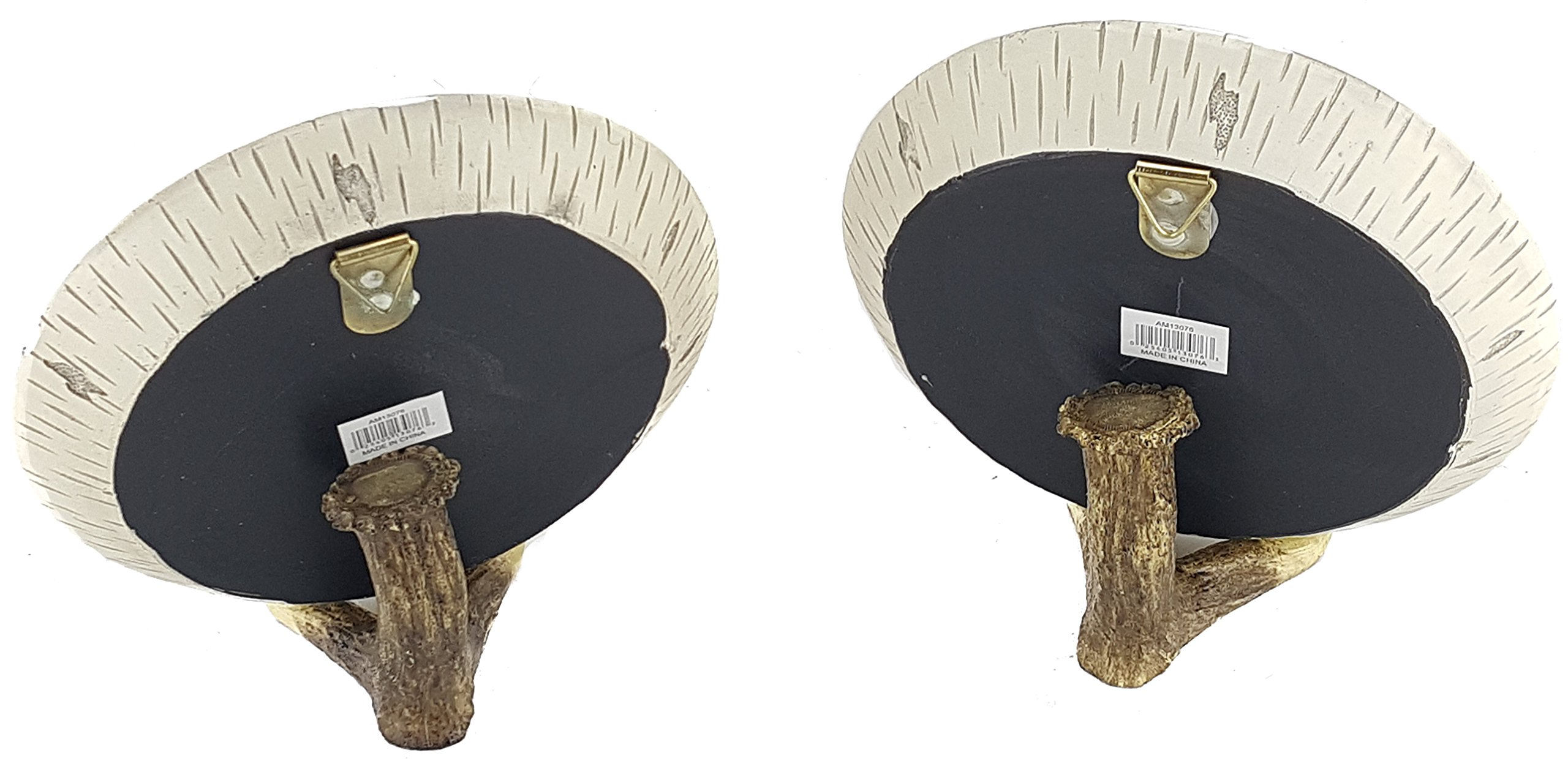Trippies Pair of Wood Look BEAR Decorative Plates w/Stands Sculpture/Statue by Trippies (Image #2)
