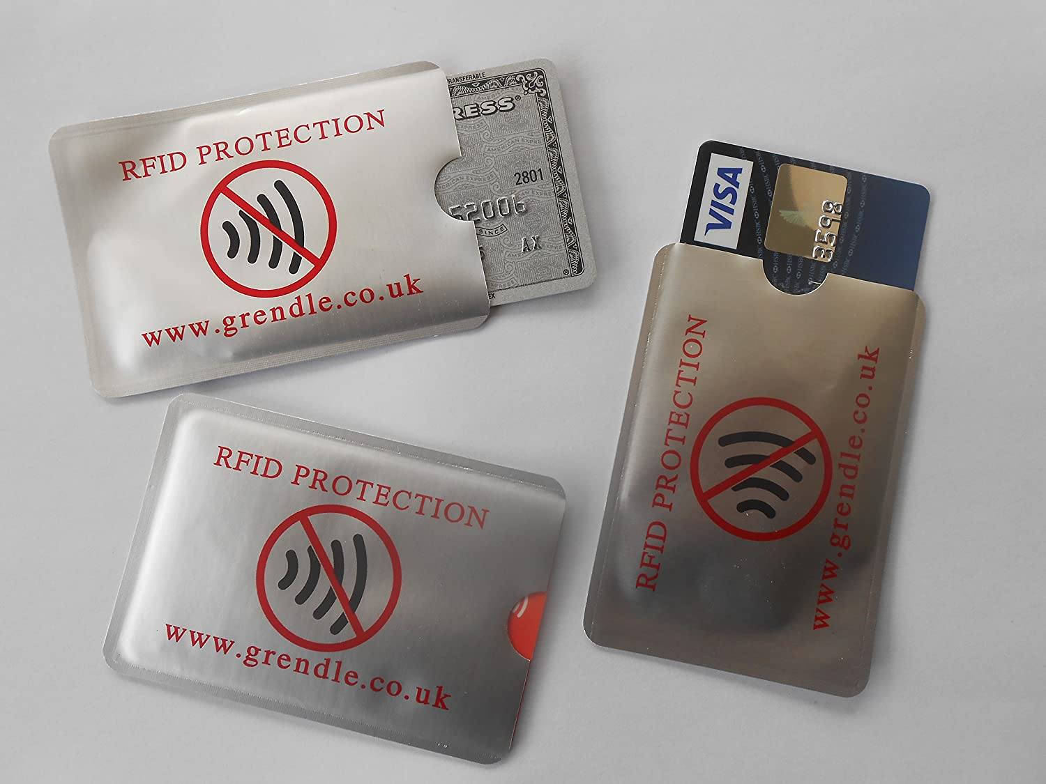3 x RFID Credit / Debit Card Protectors GRENDLE
