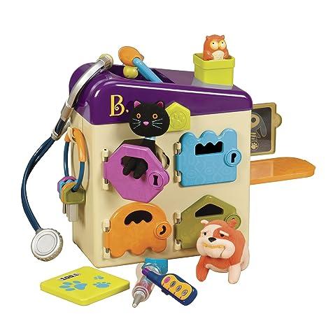 8305ec700 Amazon.com: B. toys by Battat - B. Pet Vet Toy - Doctor Kit for Kids  Pretend Play (8 pieces): Toys & Games