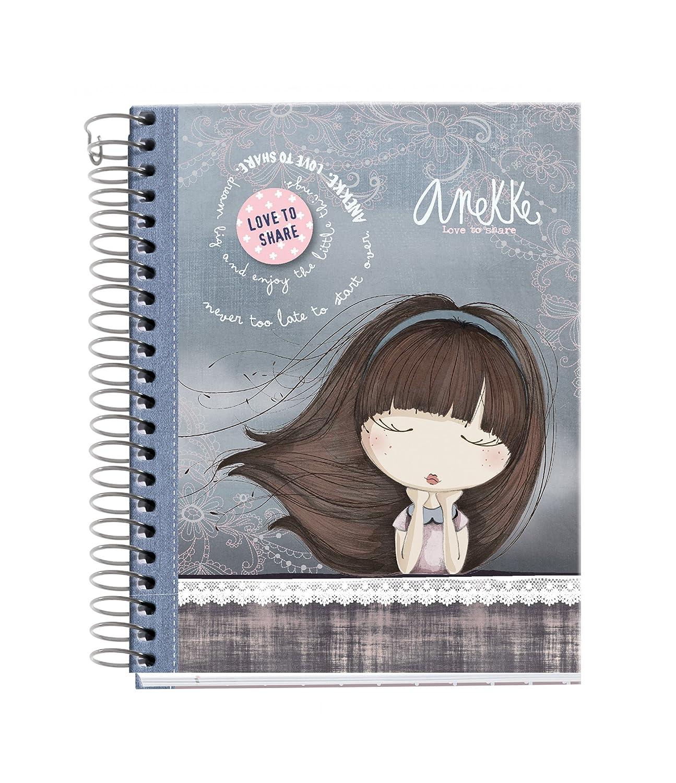 ANEKKE 47714–Notebook 4cartone Moon, DIN A6, 105x 148mm, 120fogli, 70g/m², a quadretti MIQUEL-RIUS