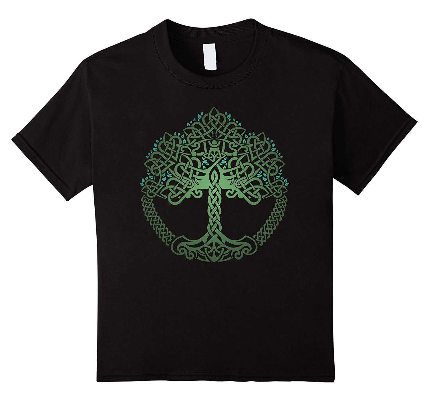 VIKING CELTIC KNOTWORK T SHIRT Black-Awarplus