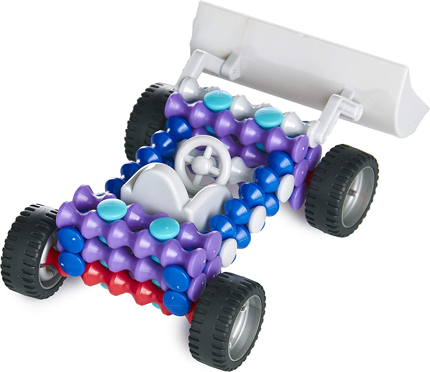 POPULAR PLAYTHINGS Playstix Master Kit Front Loader Construction Toy Building Blocks 26 Piece Kit