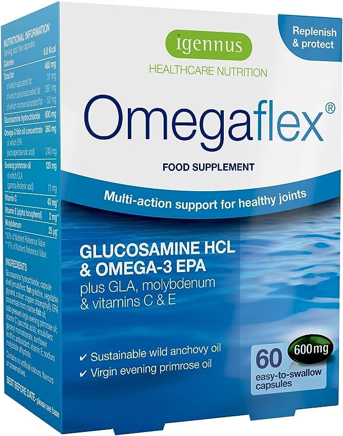 Omegaflex Glucosamina, Aceite de Pescado Omega 3 EPA y Aceite de ...