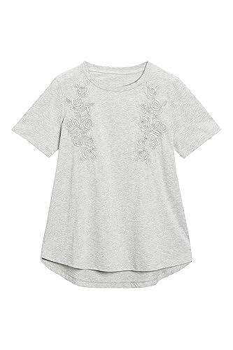next Mujer Camiseta Bordada Corte Regular