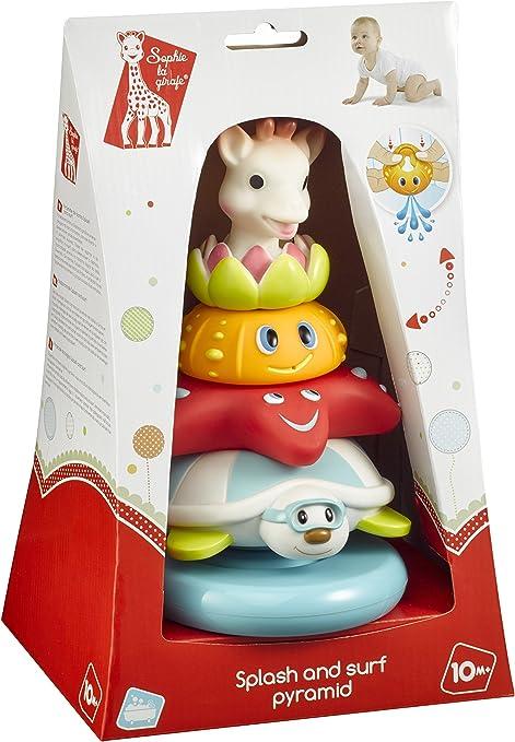 Juguete de ba/ño, Ni/ños, Ni/ño//ni/ña, Multicolor, Caja juguete y pegatina de ba/ño juguetes y pegatinas de ba/ño Sophie la girafe 523423 Juguete de ba/ño Multicolor juego Juegos