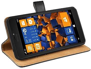 mumbi Ledertasche im Bookstyle für Microsoft Lumia 640 XL Tasche