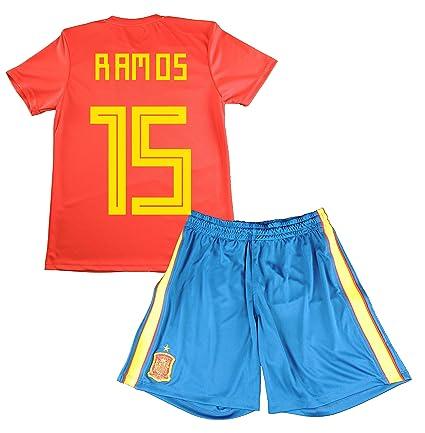 872bf36e3ad87 Equipación de Sergio Ramos. Réplica Oficial de la Primera Equipación de la Selección  Española para