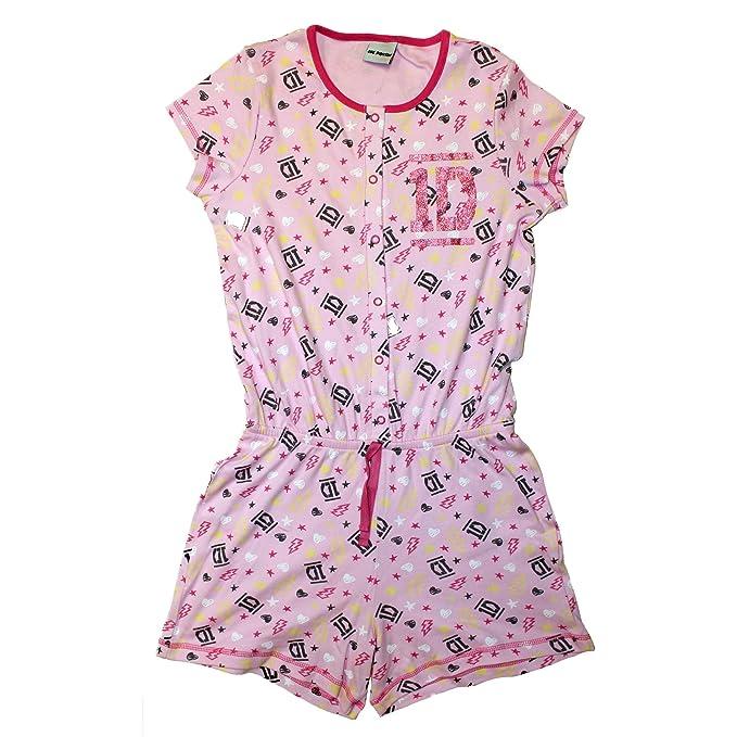 One Direction de color rosa músculos pijama ropa de descanso para niñas pijamas 11 - 12