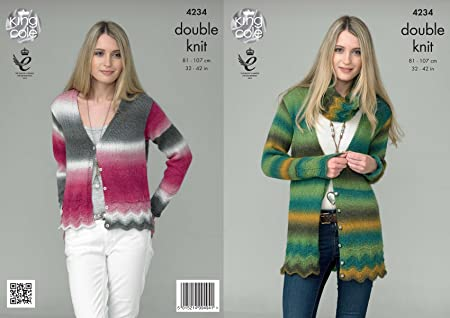 f393b46cd Image Unavailable. Image not available for. Colour  King Cole 4234 Knitting  Pattern Ladies Cardigans and Snood to knit in King Cole Riot DK