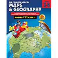 Carson Dellosa The Complete Book of Maps and Geography Workbook—Grades 3-6 Social Studies, State, Regional, Global…