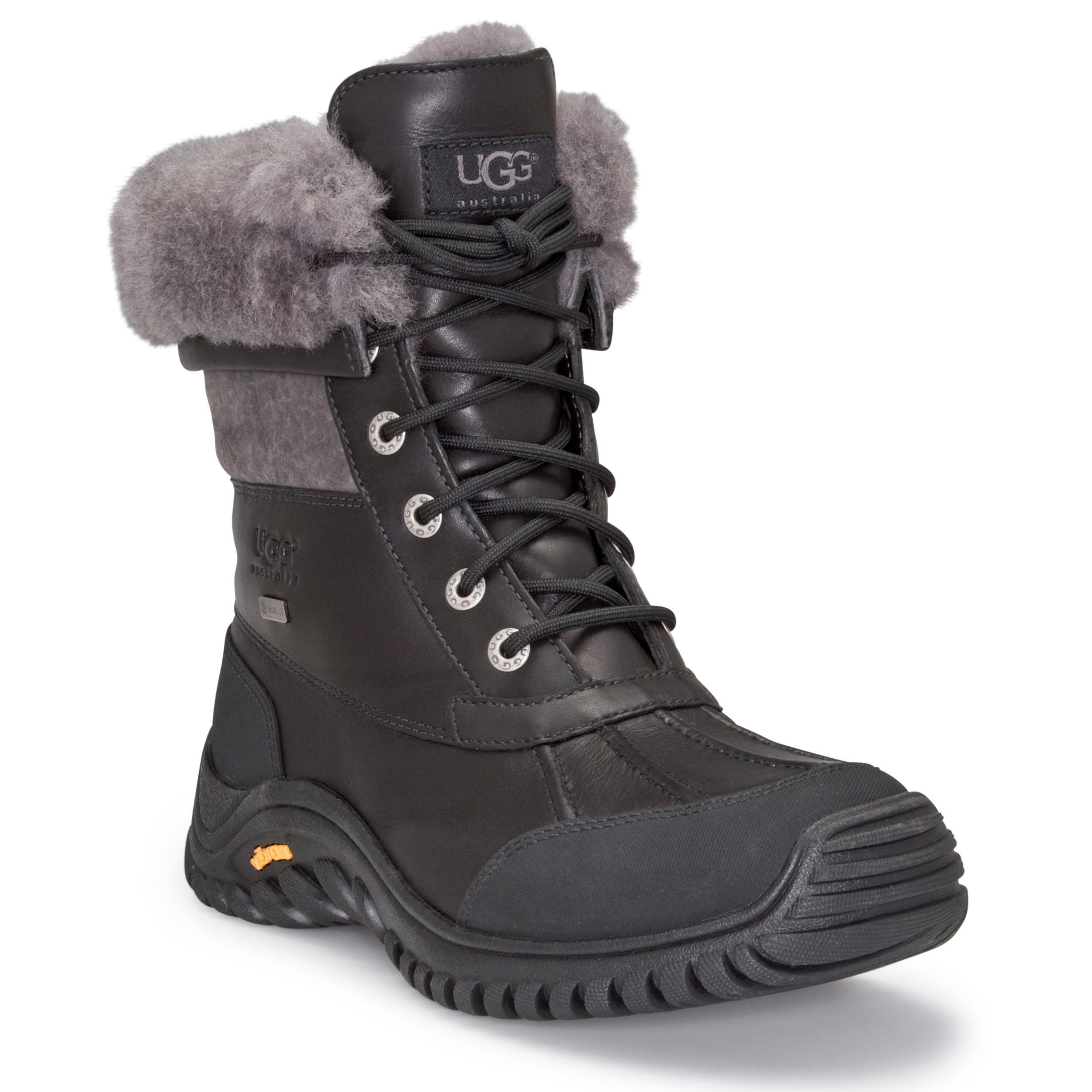 UGG Women's Adirondack II Winter Boot, Black/Grey, 6 B US