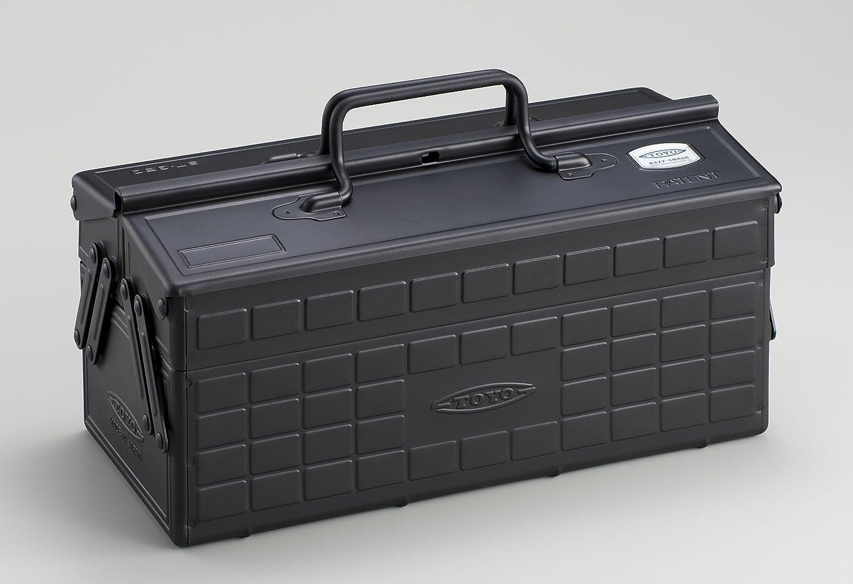 TOYOスチール製2段式工具箱 ST-350 ブラック