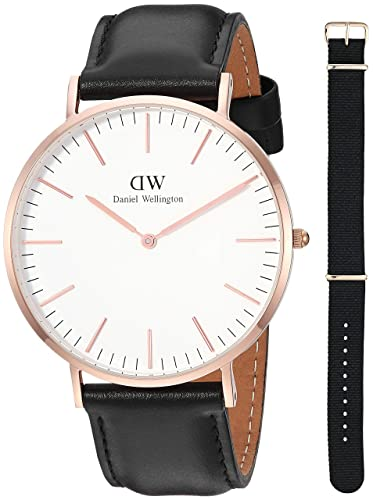 Daniel Wellington Reloj Analógico para Hombre de Cuarzo con Correa en Cuero DW00500002: Amazon.es: Relojes