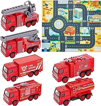Feuerwehrstation Kleinkinder Spielzeug Fördert die Kreativität Fantasie