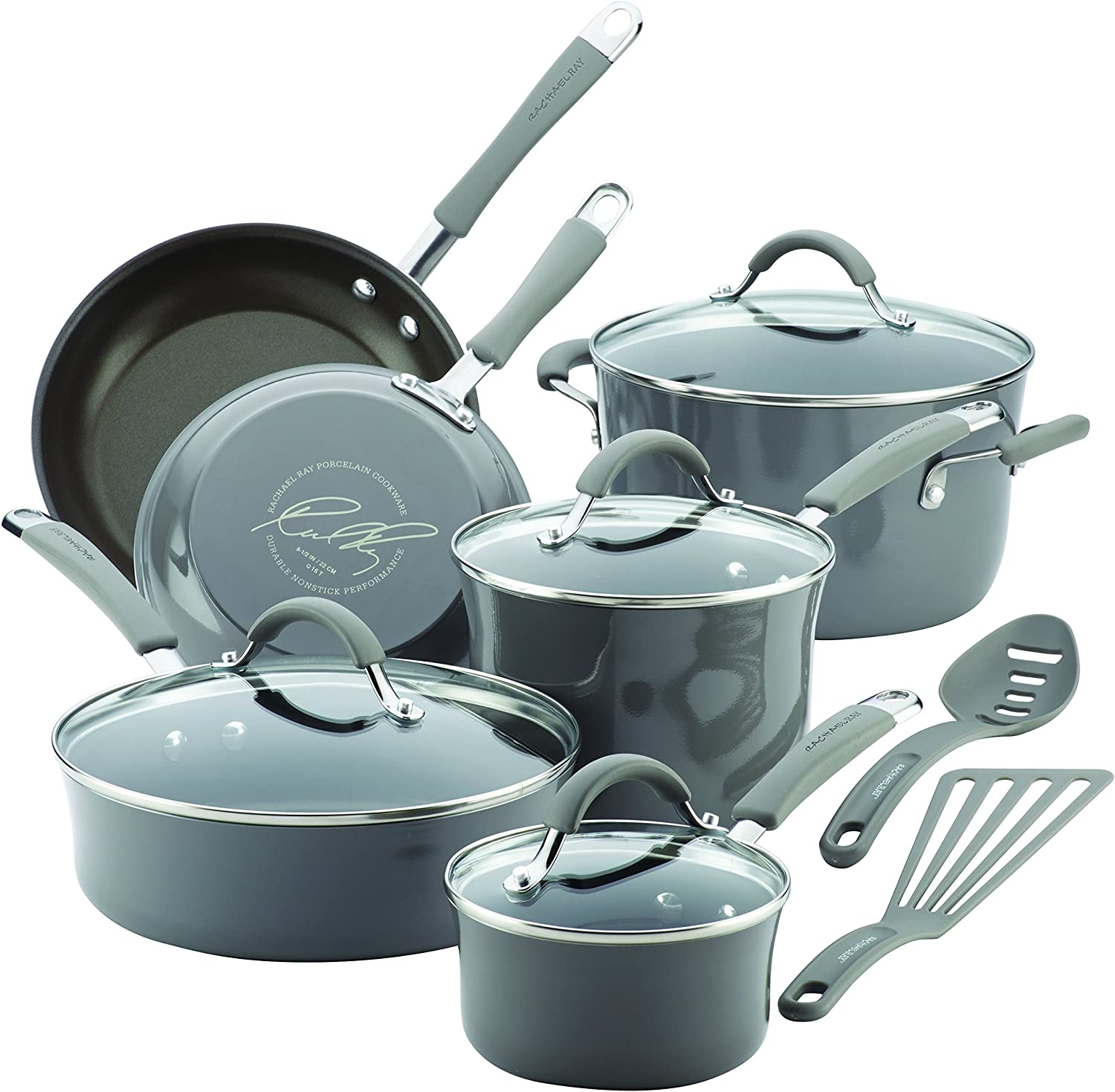 Rachael Ray Cucina Nonstick Cookware Pots and Pans Set