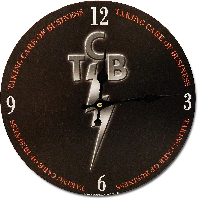"""Midsouth Products Elvis Presley Clock - TCB 11.75"""" Diameter"""