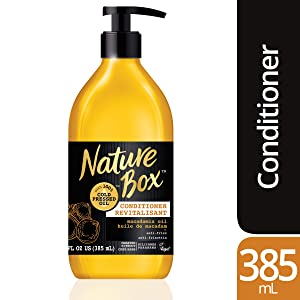 Nature Box Conditioner - for Instant Hydration, with 100% Cold Pressed Macadamia Oil, 13 Ounce