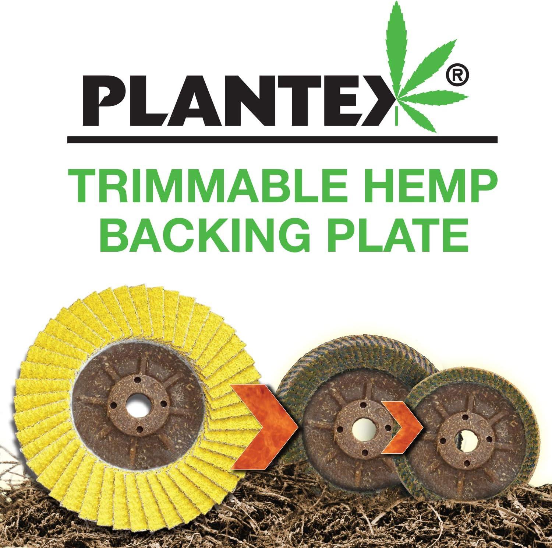 5 Diameter 40//60 Grit 5//8-11 Arbor CS Unitec 93521 PLANTEX SUNFIRE Ceramic Trimmable Flap Disc Pack of 1