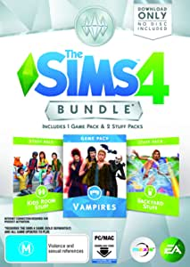 THE SIMS 4 BUNDLE PACK (Vampires, Kids Room Stuff, Backyard Stuff)