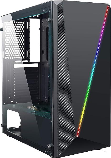 DeepGaming DeepAbyss - Caja gaming de PC ATX/micro ATX con 16 ...
