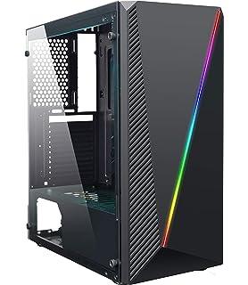 Hiditec V10 RGB Torre Negro - Caja de Ordenador (Torre, PC, ABS ...