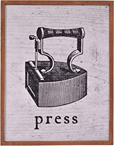 NIKKY HOME Vintage Press for Laundry Room Décor Wall Art