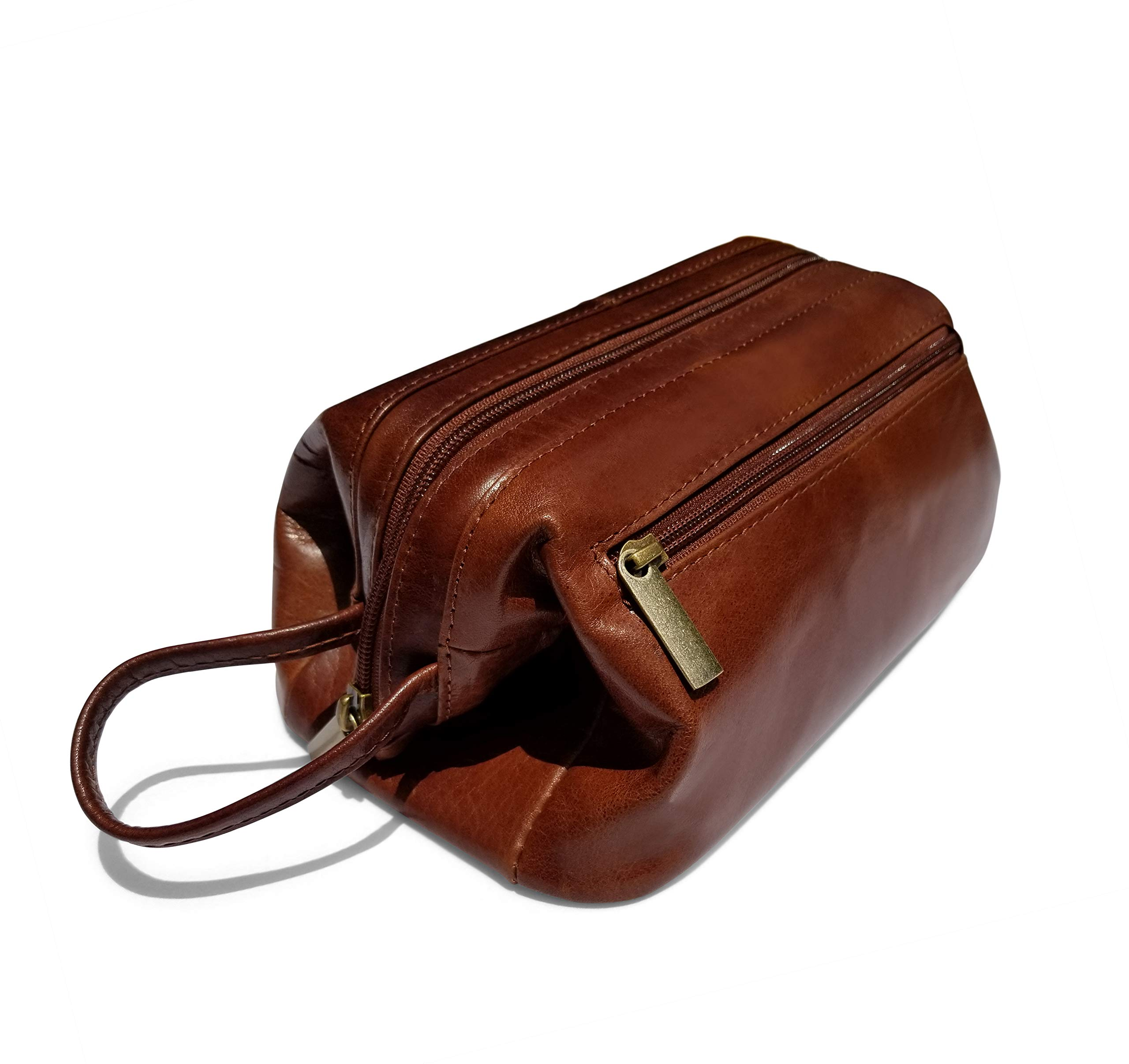Leather Toiletry Bag Dopp Kit Classic by Gent Supply by Gent Supply