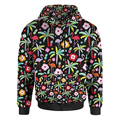 93af56b31 Flamingo Paradise Women Zip Up Hoodie at Amazon Women's Clothing store: