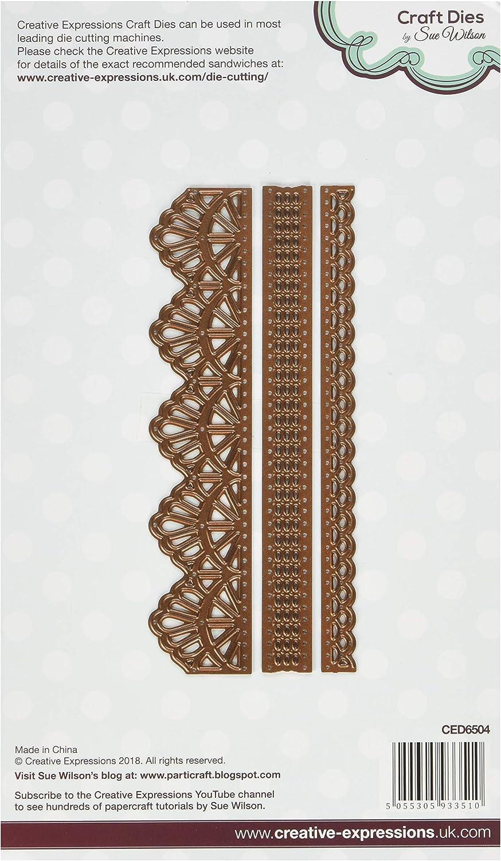 Silber Sue Wilson Konfigurationen Collection Chantilly Lace Kantenschneider Metall 25.5/x 16/x 0,8/cm sterben