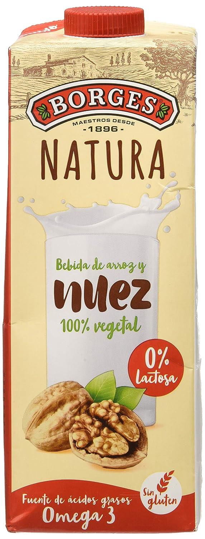 Borges Natura - Bebida de Nuez y Arroz 100% Vegetal, Sin Lactosa Ni Gluten - Envase de 1 Litro.: Amazon.es: Alimentación y bebidas